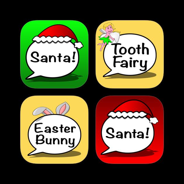 Tooth clipart bunny. Calls from santa texts