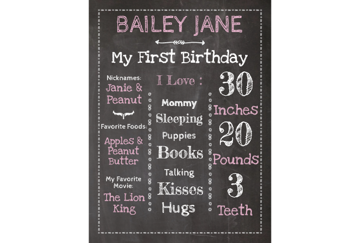Tooth clipart chalkboard. My first birthday style