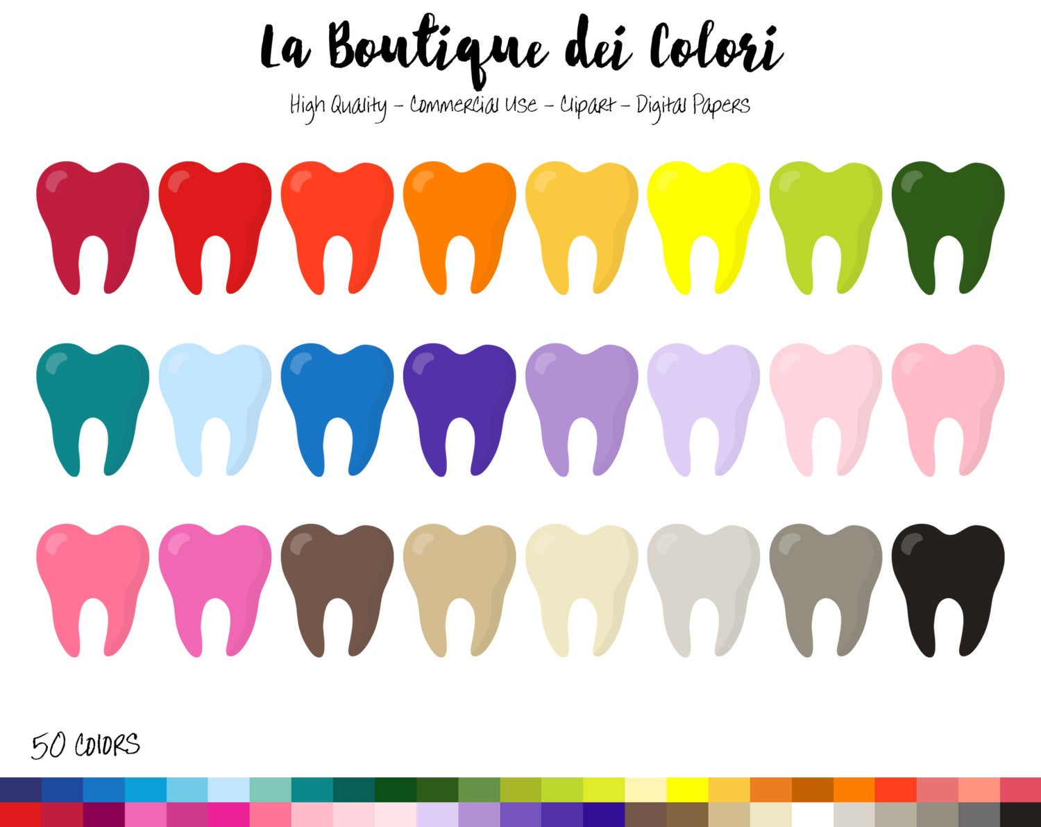 rainbow clip art. Tooth clipart colorful