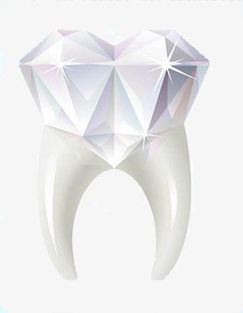 Teeth us dental png. Tooth clipart diamond