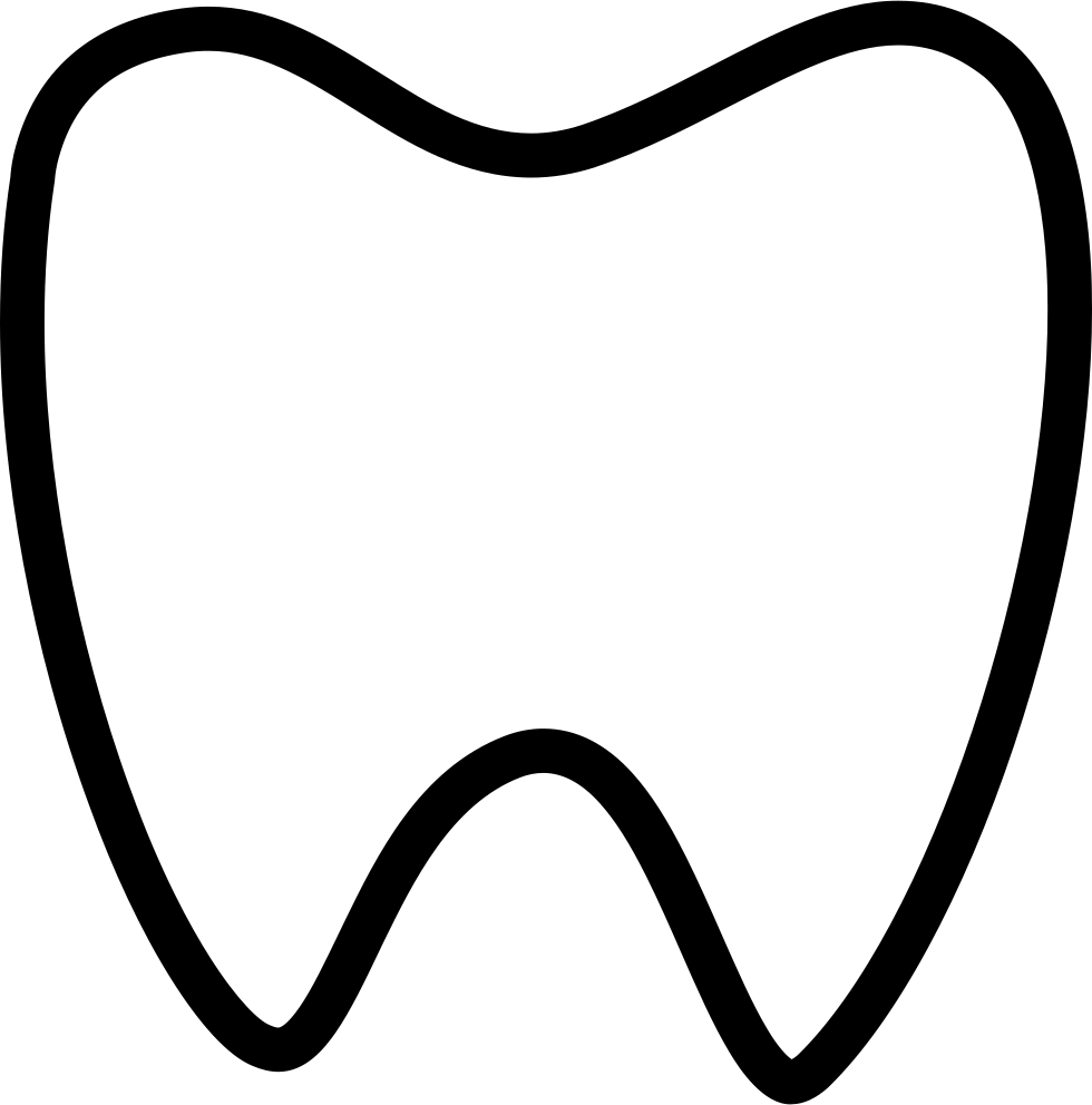 Yellow svg png icon. Tooth clipart file