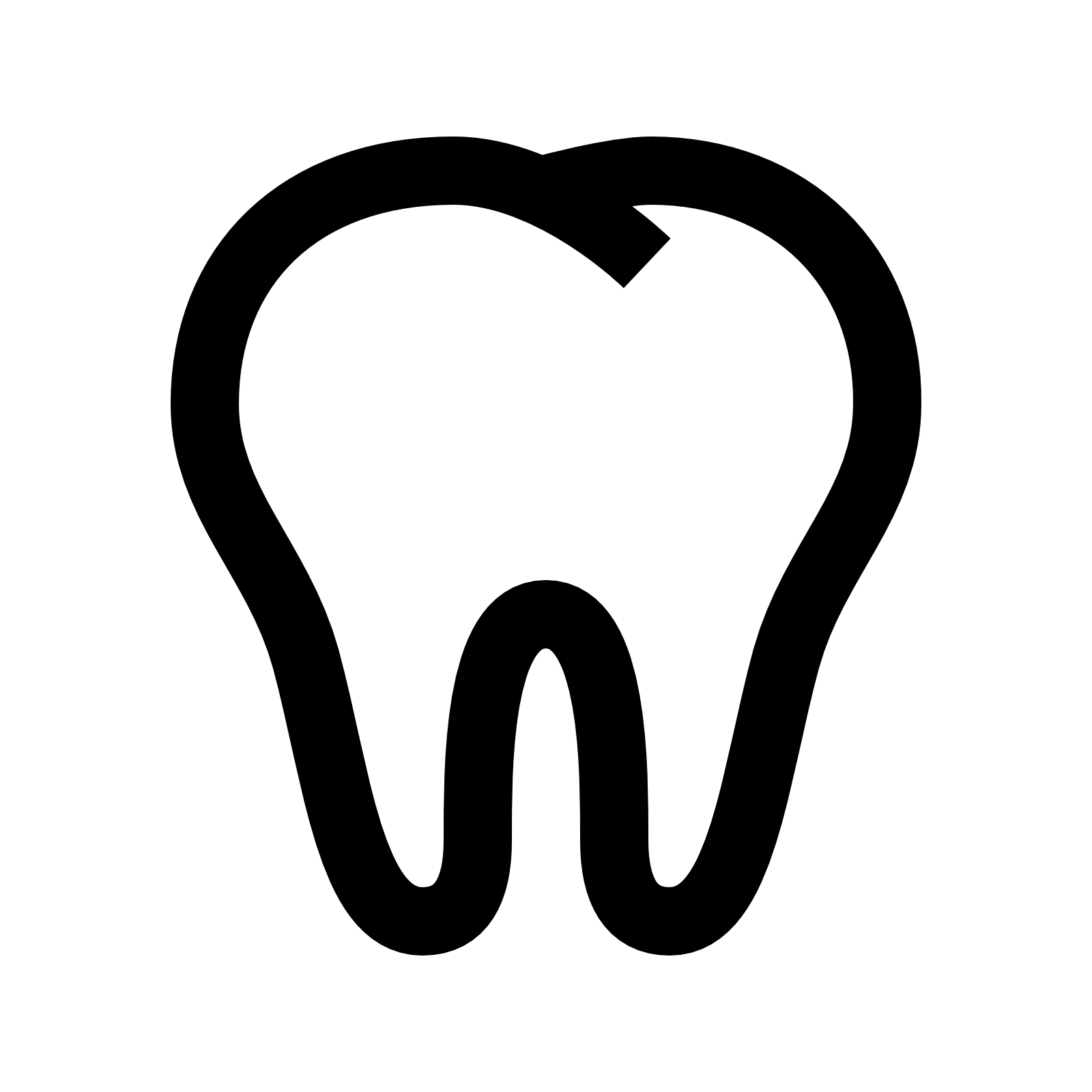 Tooth clipart plain. Library icon free icons