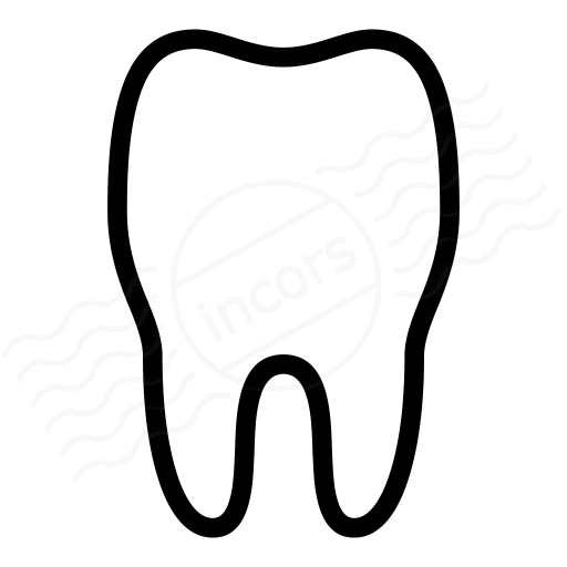 Iconexperience i collection icon. Tooth clipart plain