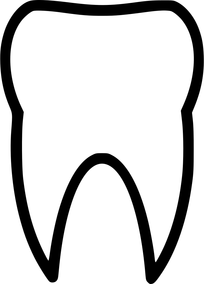Teeth svg png icon. Tooth clipart plain