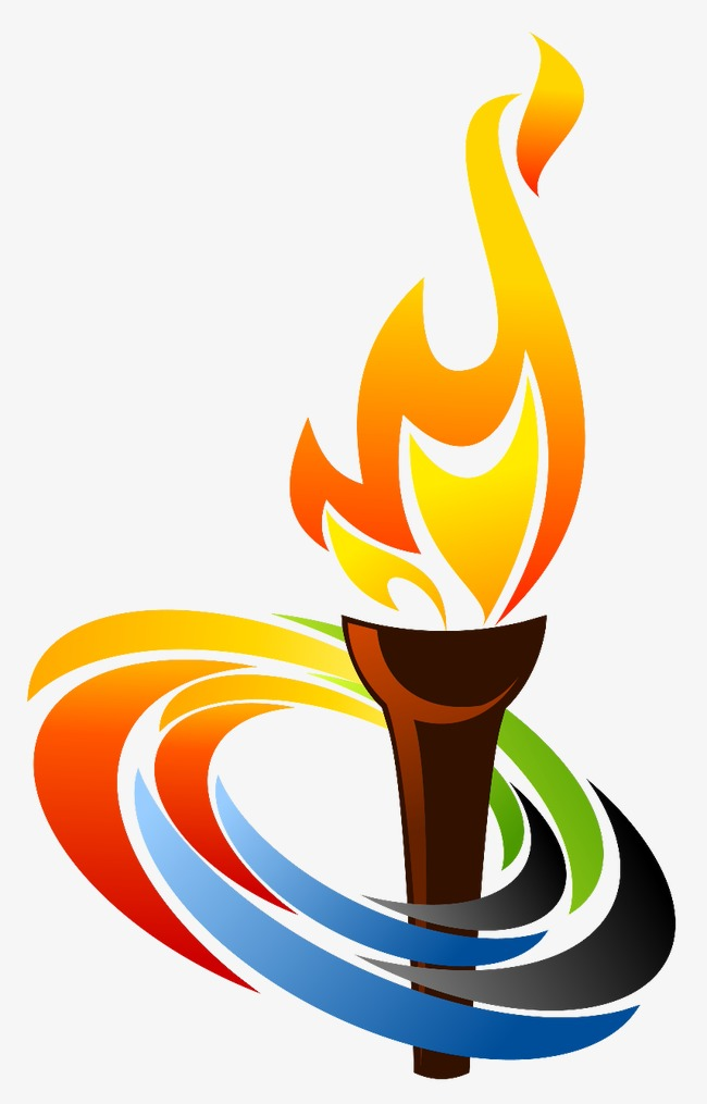 Torch clipart. Flame olympic png image