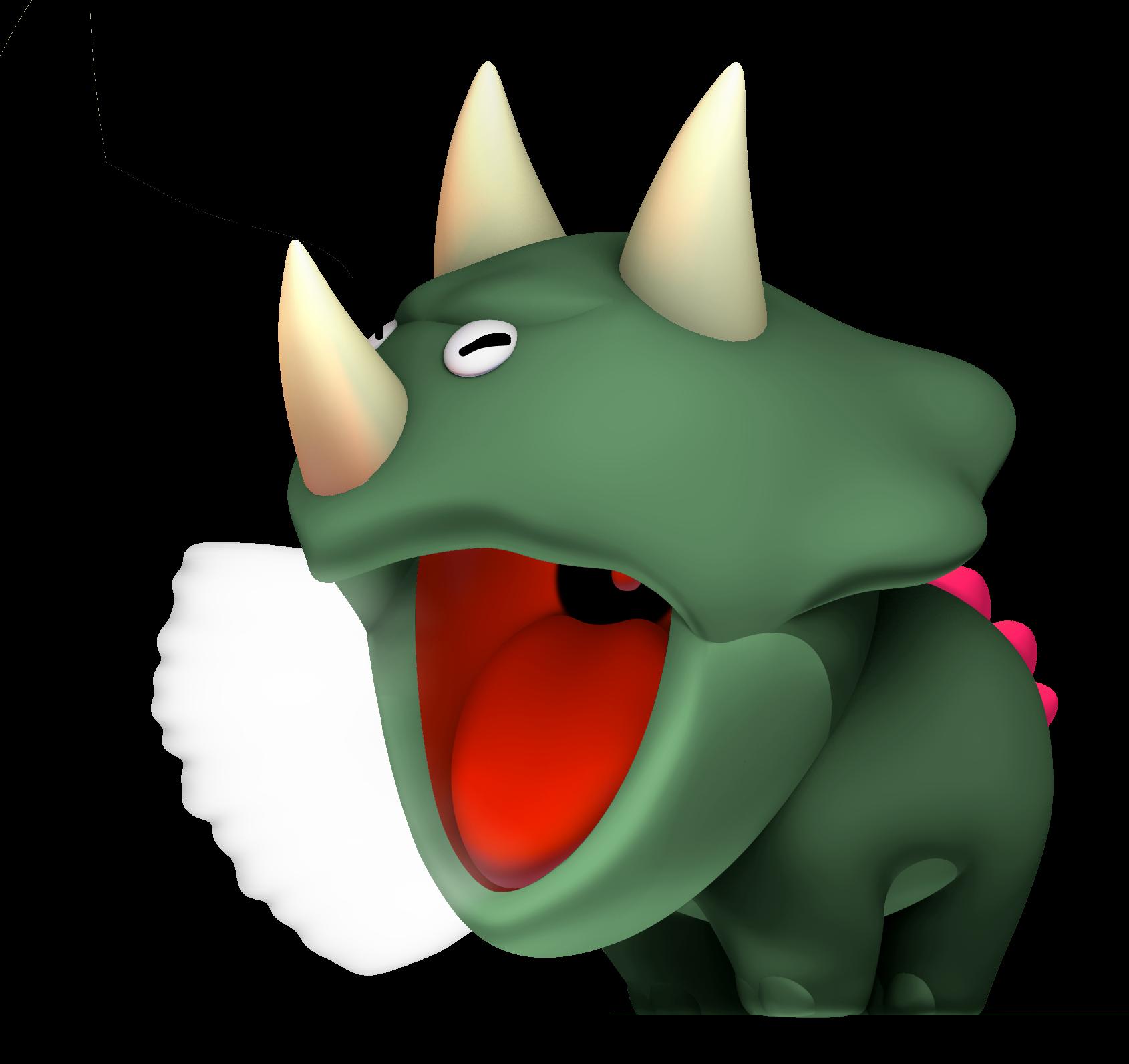Dino rhino fantendo nintendo. Torch clipart ancient