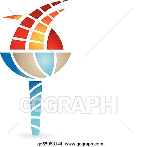 Vector illustration eps gg. Torch clipart ancient