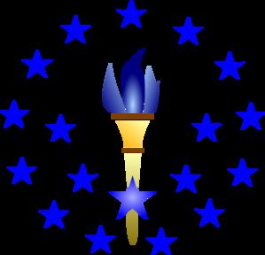Torch clipart blue torch. Clip art at clker