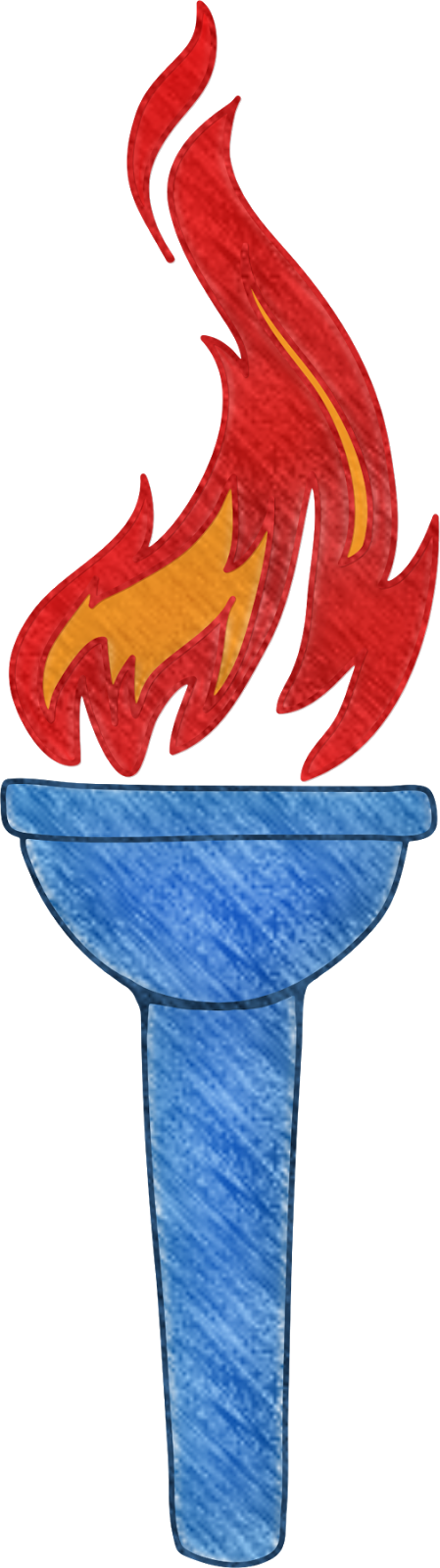torch clipart blue torch