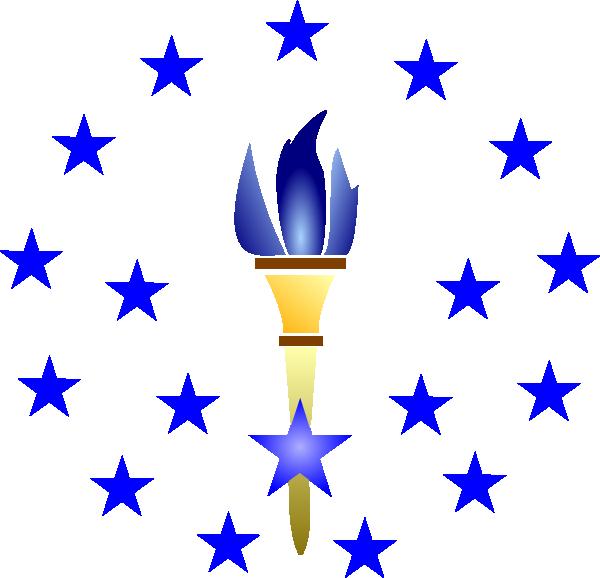 Clip art at clker. Torch clipart blue torch