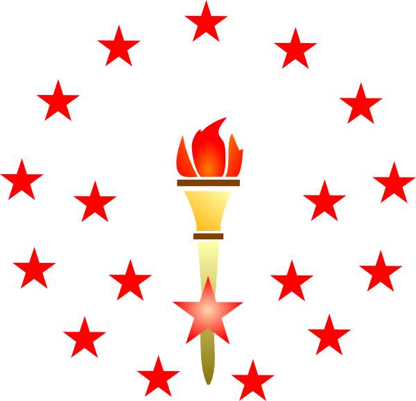 Red clip art at. Torch clipart border