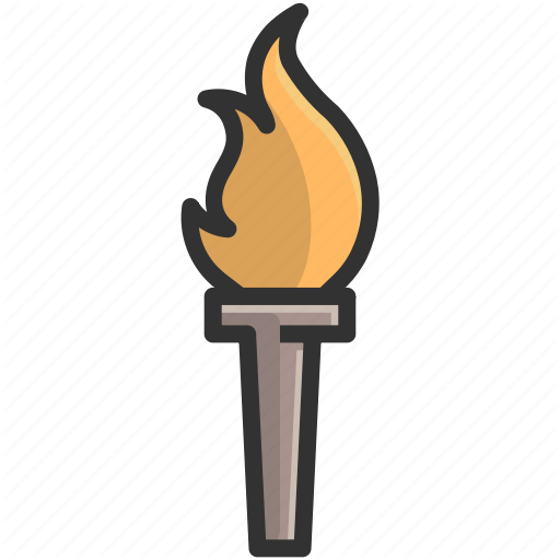 Torch clipart champion.  award and trophy
