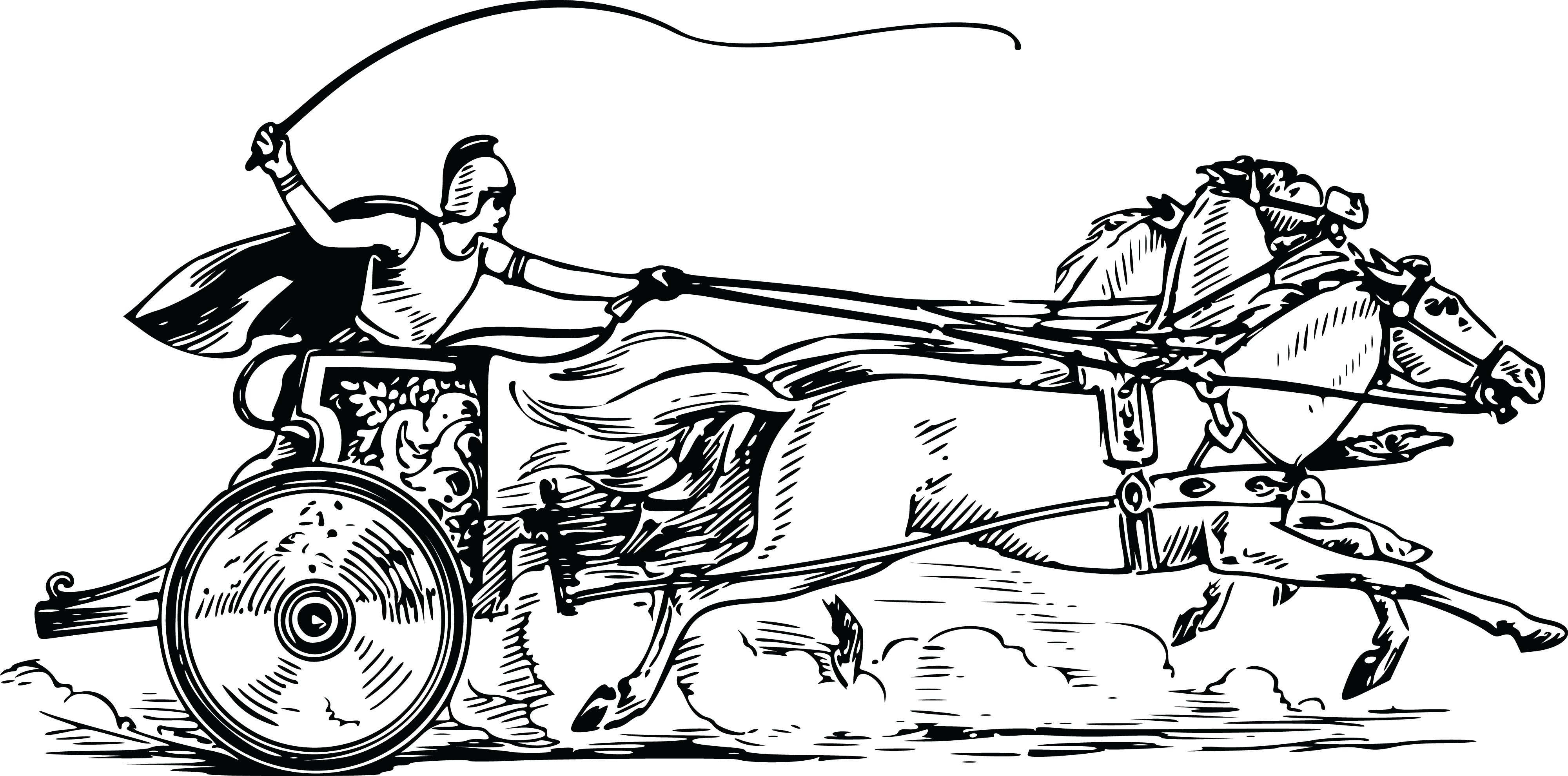 Torch clipart coloring. Roman chariot frames illustrations