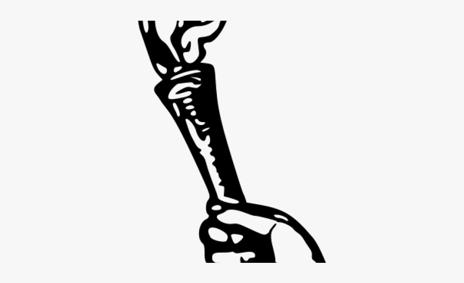 Torch clipart hand. Obor holding drawing