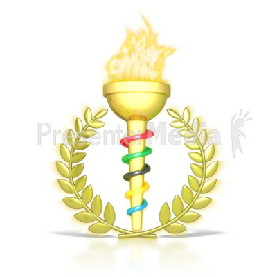 Torch clipart olympic medal. Ceremonial flaming signs and