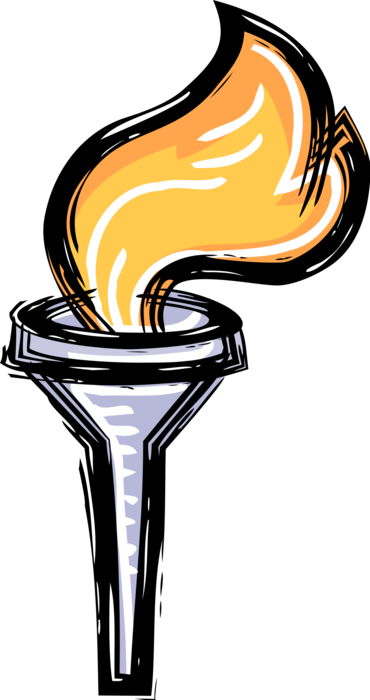 Olympic flame vector image. Torch clipart prometheus