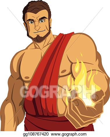 Vector stock on white. Torch clipart prometheus