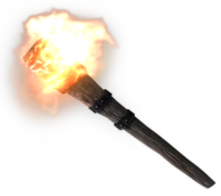 Medieval holder awesome black. Torch clipart realistic