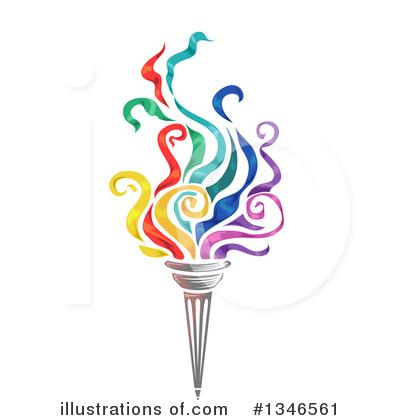 Illustration by bnp design. Torch clipart senior olympics