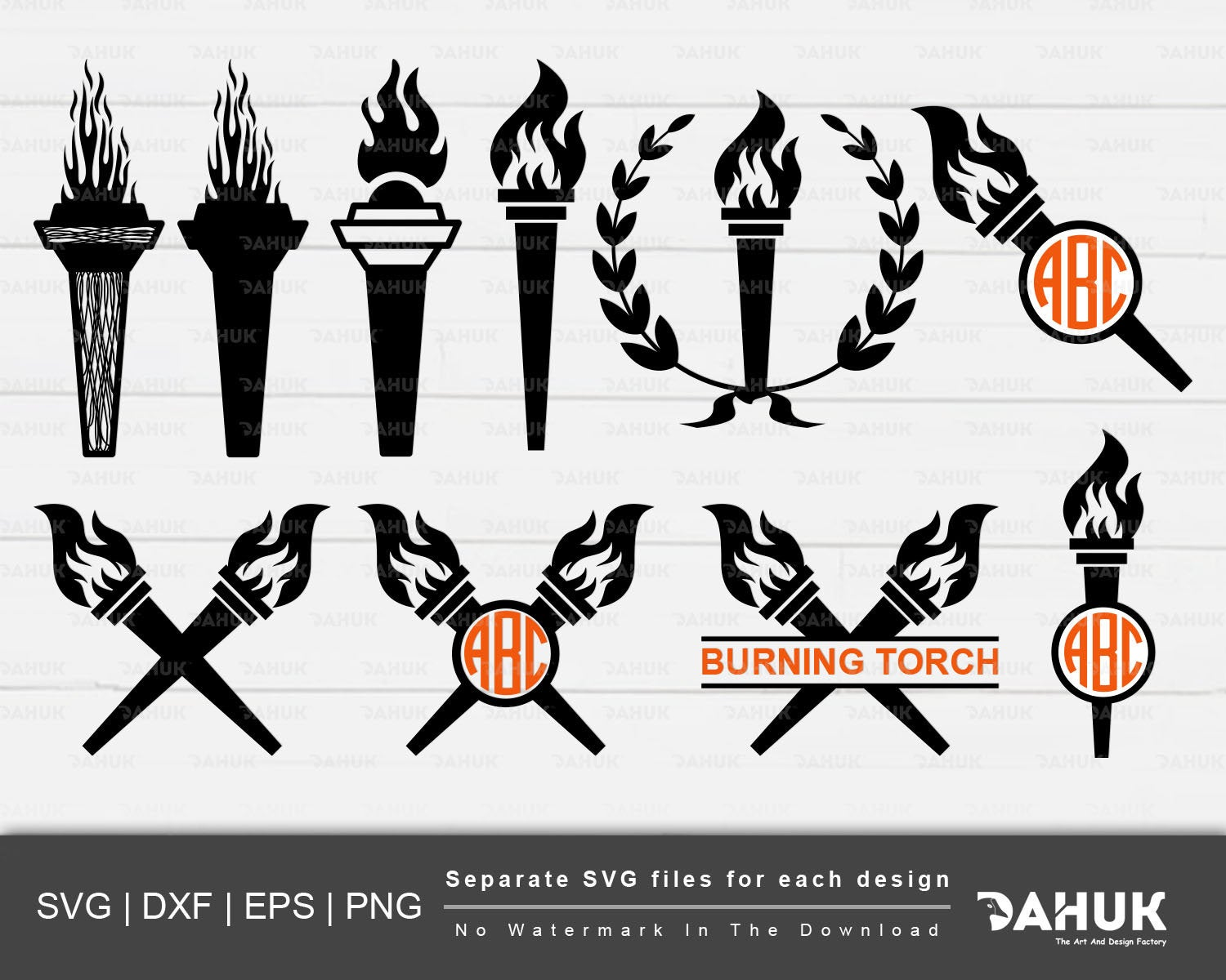 Burning svg cut file. Torch clipart silhouette