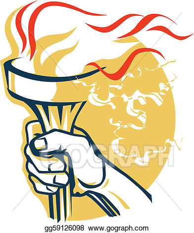 Torch clipart victory. Vector art eps gg