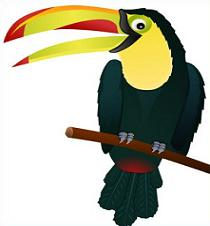 Toucan clipart. Free