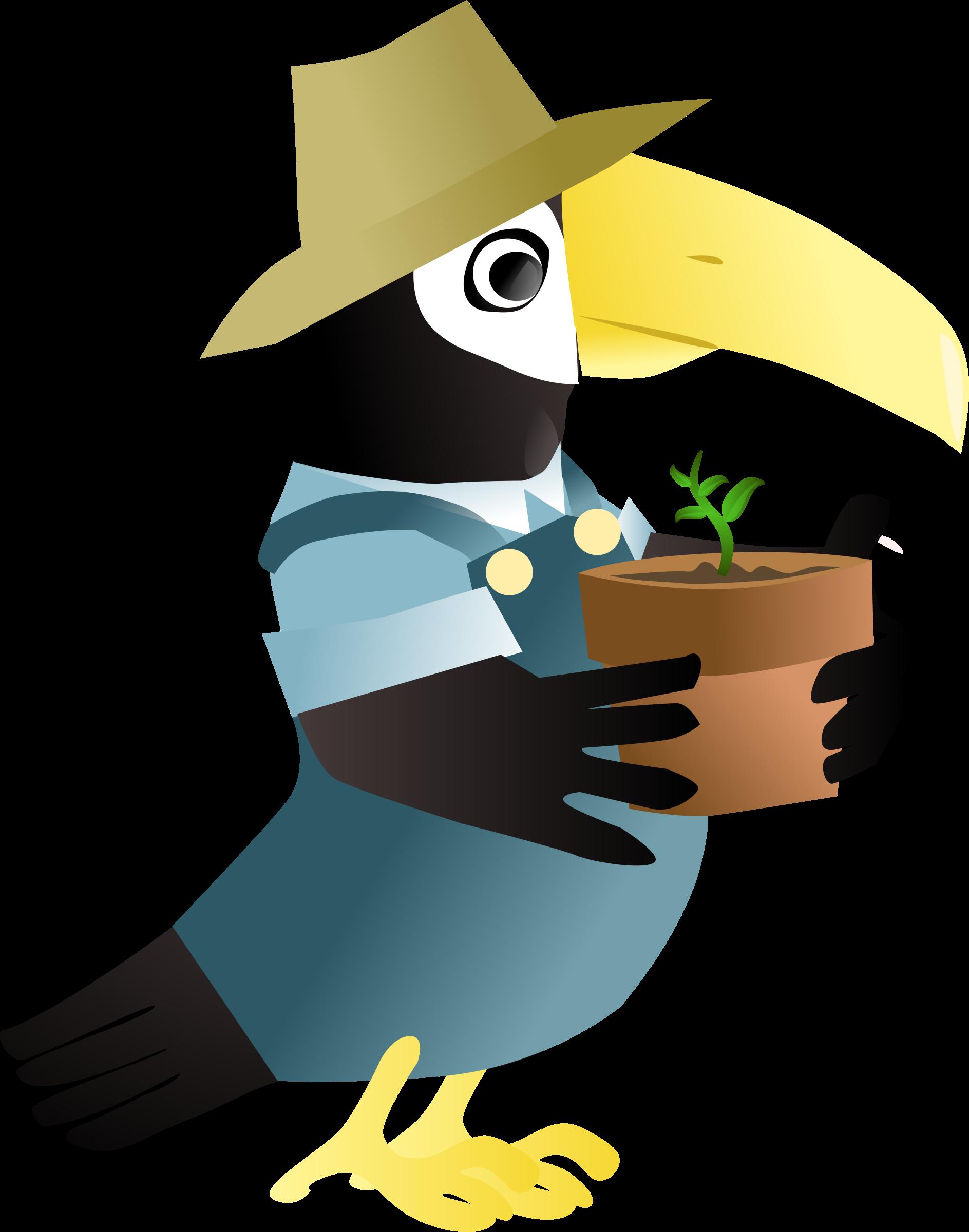 Toucan clipart blue. In the garden icons
