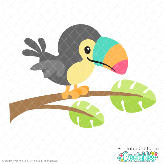 Toucan clipart christmas. Tropical svg file for