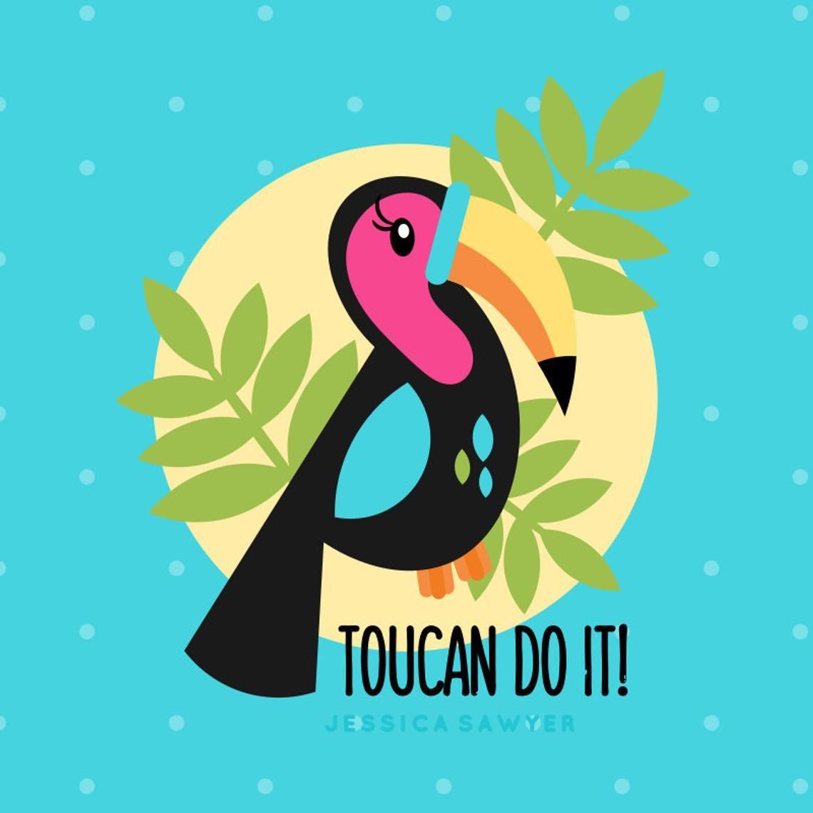 Illustration cute drawings in. Toucan clipart kawaii