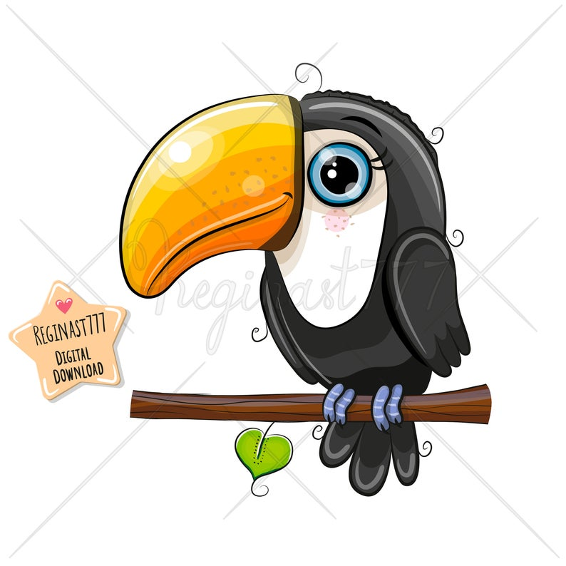 Cute girl png digital. Toucan clipart kid