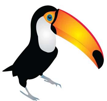 Free clip art library. Toucan clipart vector