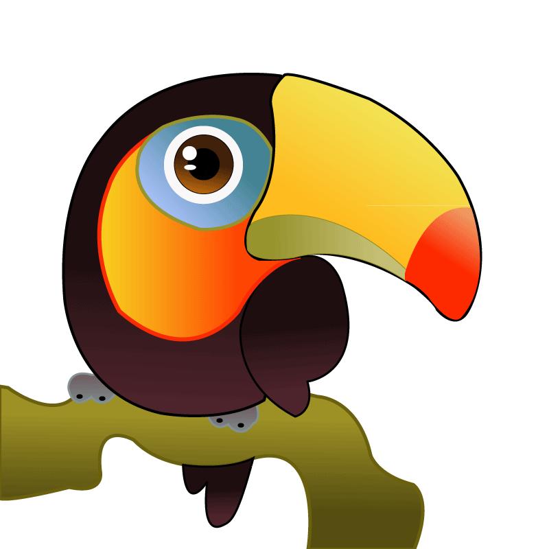 Toucan clipart vector. Pl ss szirom plss