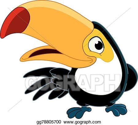 Toucan clipart vector. Stock smiling illustration