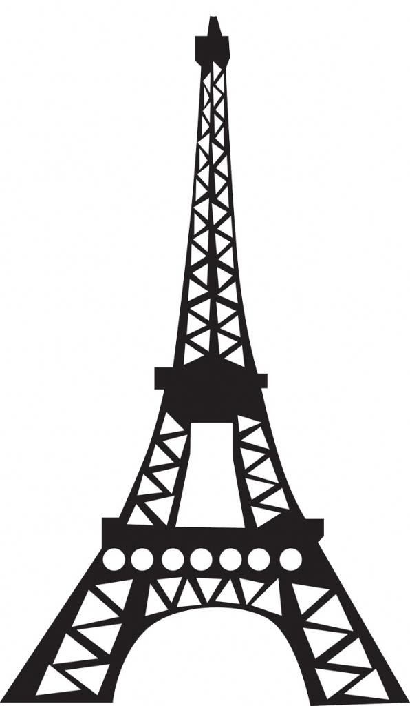 Tower clipart basic. Eiffel simple drawing free