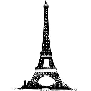 Tower clipart basic. Simple eiffel cliparts of
