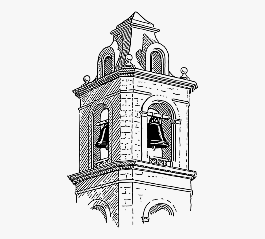 Church cliparts drawing . Tower clipart bell tower