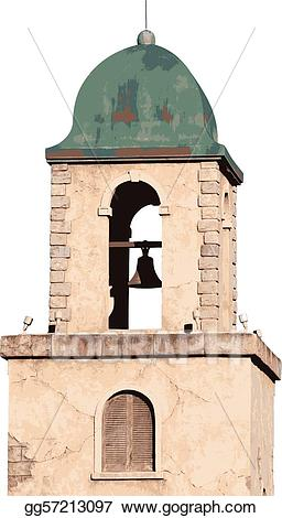 Tower clipart bell tower. Vector stock illustration gg