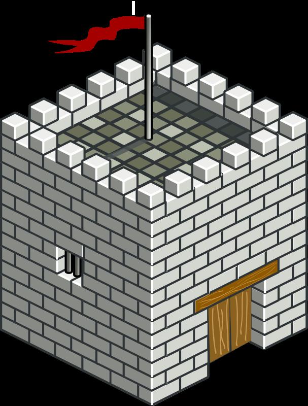 Isometric medium image png. Tower clipart brick