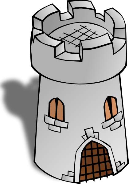Tower clipart cartoon. Round clip art at