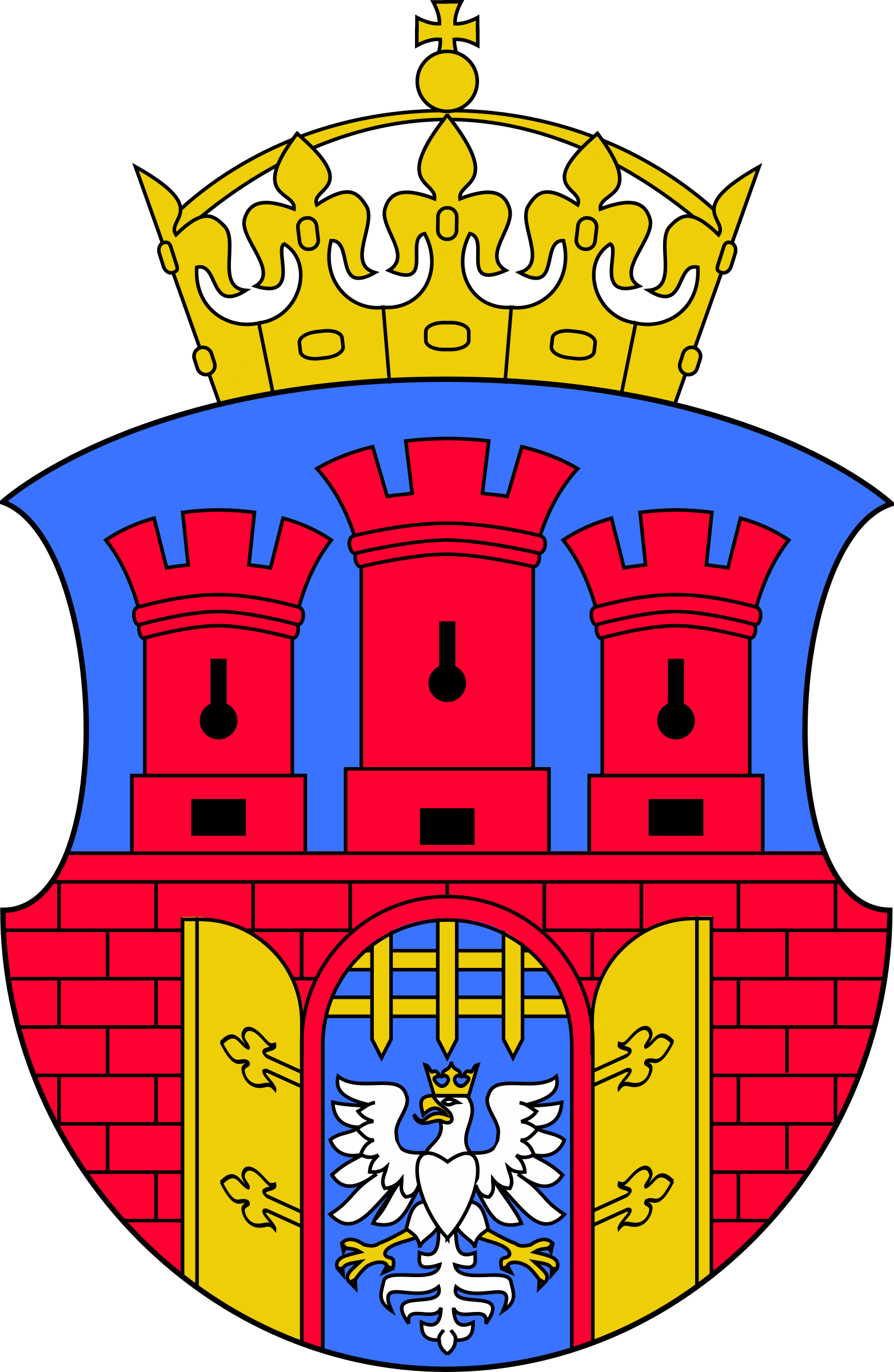 Tower clipart coat arm. Krakow of arms big