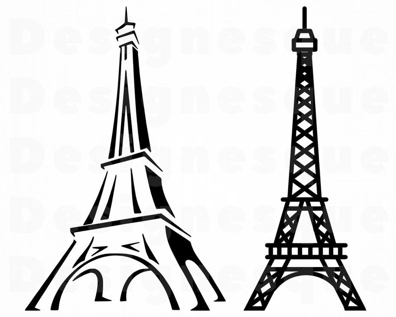 Eiffel svg files for. Tower clipart cut out