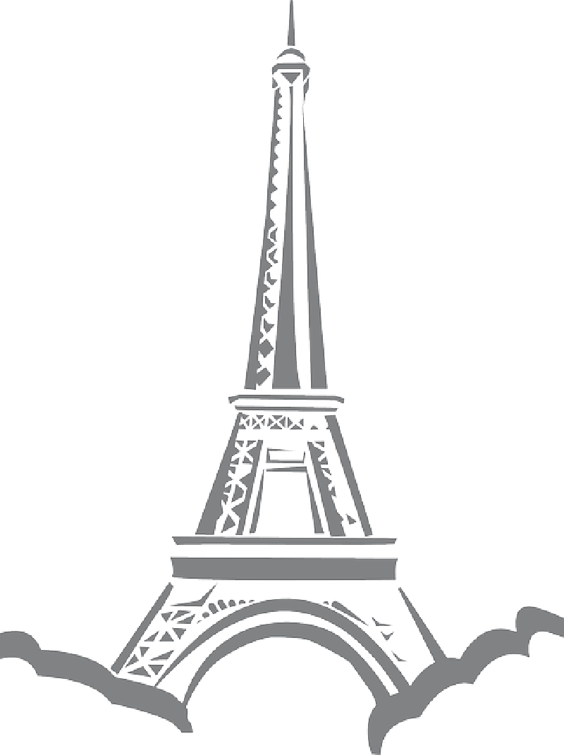 Simple eiffel tattoo best. Tower clipart easy