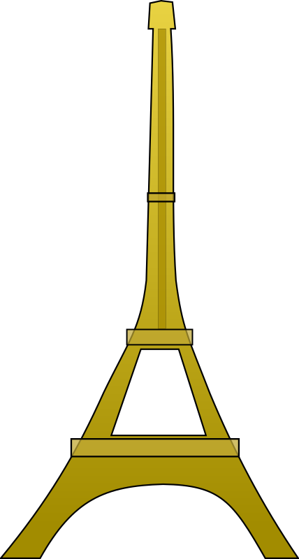Tower clipart easy. Eiffel medium image png