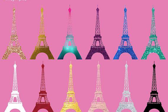 Eiffel silhouette . Tower clipart fancy