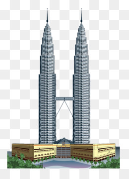 Petronas towers png free. Tower clipart malaysia twin tower