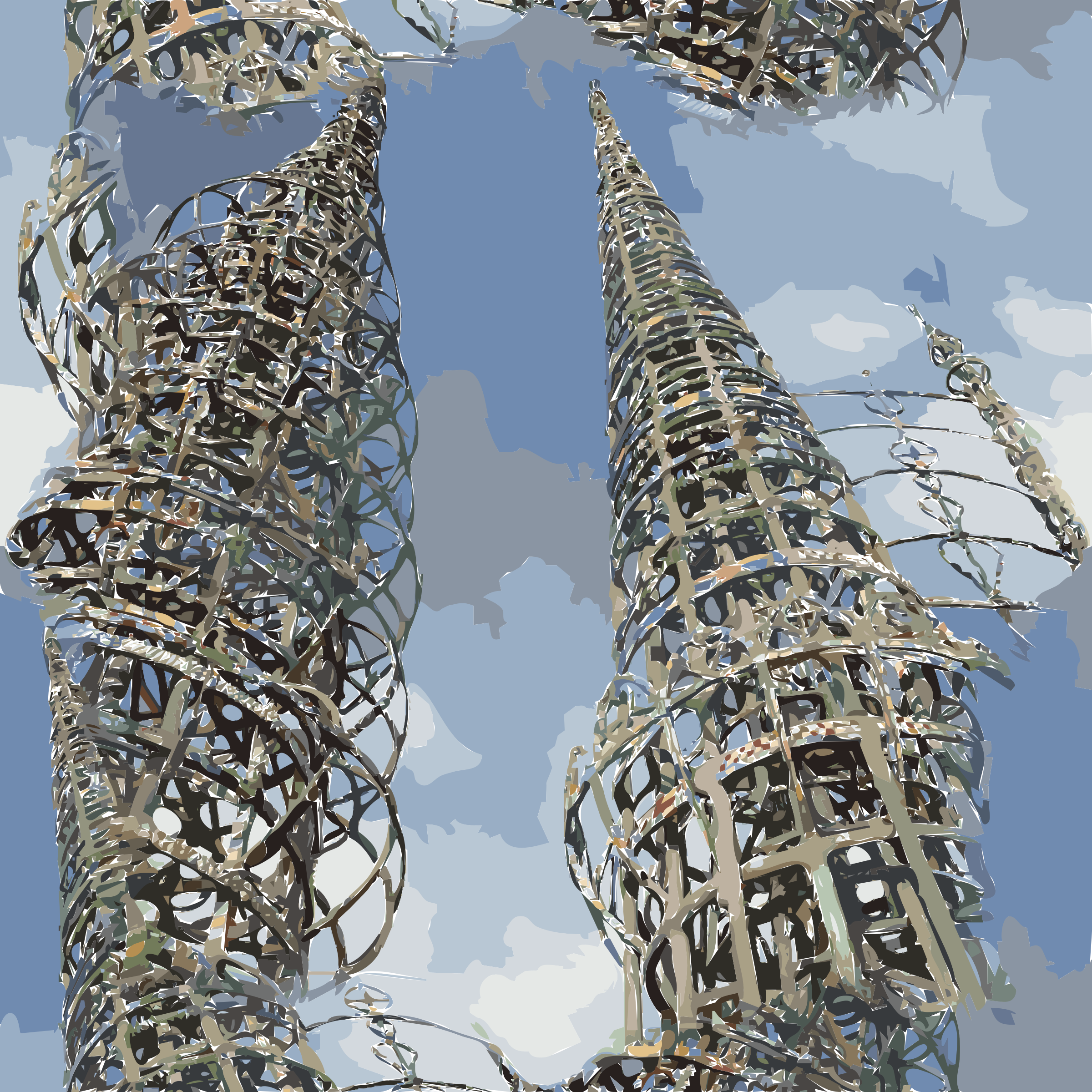 Tower clipart malaysia twin tower. Watts towers icons png