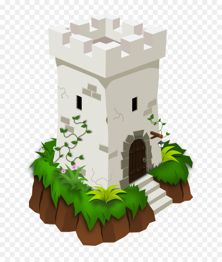 Tower clipart medieval tower. Castle cartoon leaf tree