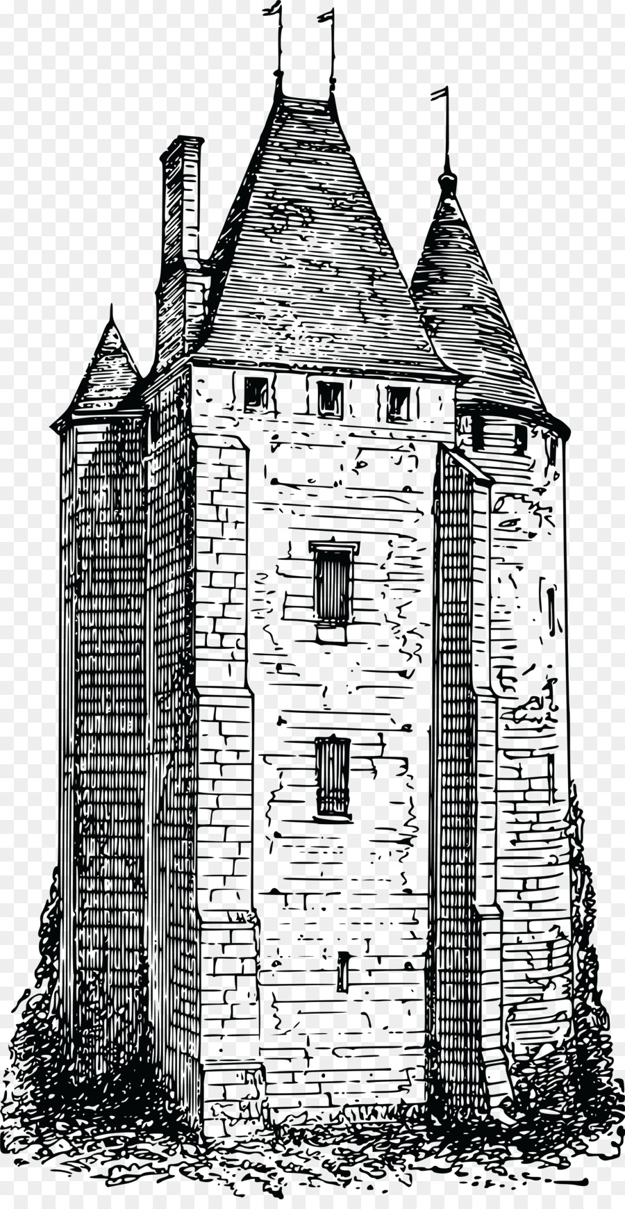 Tower clipart medieval tower. Castle cartoon drawing building
