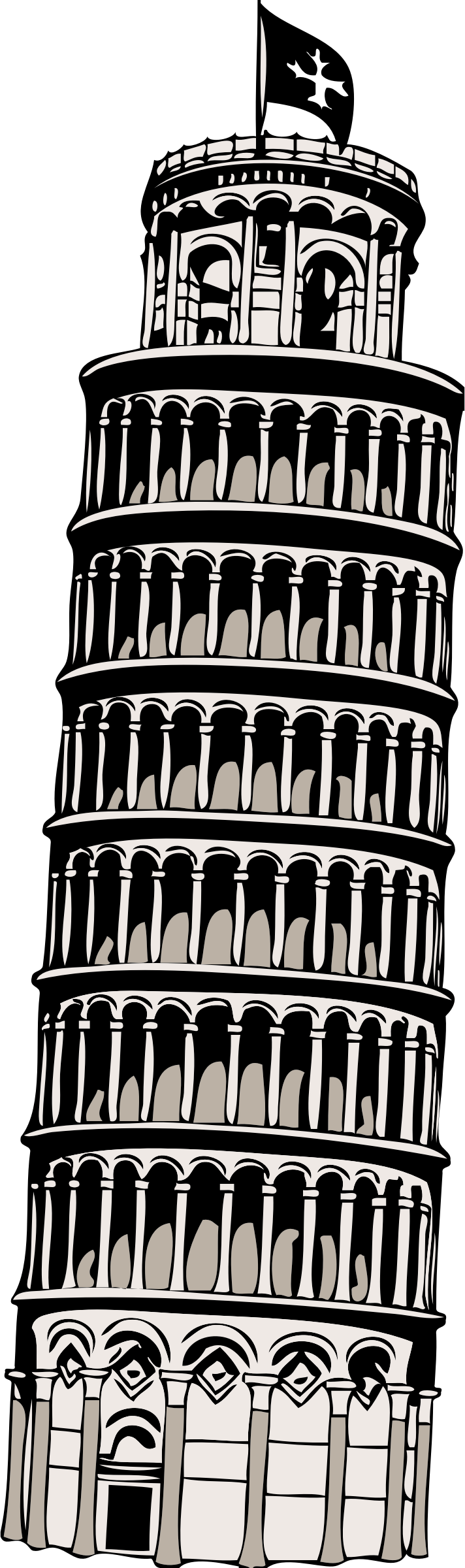 Tower clipart pisa clipart. Leaning of big image