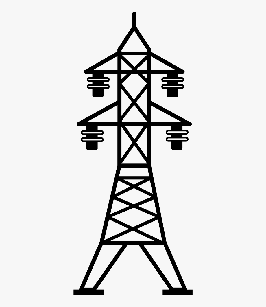 Tower clipart power tower. Svg freeuse line transparent